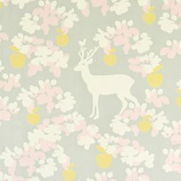 Majvillan Apple Garden Wallpaper Grey Multi
