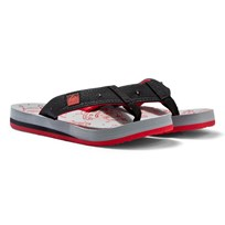 Reef Grey and Red Ahi Light-up Print Sandals Grey Red