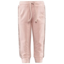Microbe by Miss Grant Pale Pink Sweat Pants With Metallic Pink Side Stripes With Chain Pocket Detail