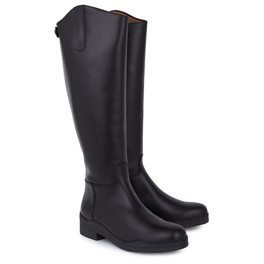 Regent Black Ranch Rider Boots Black