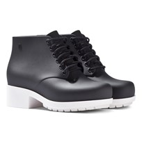 Mini Melissa Black Contrast Heeled Lace Boots Black Contrast