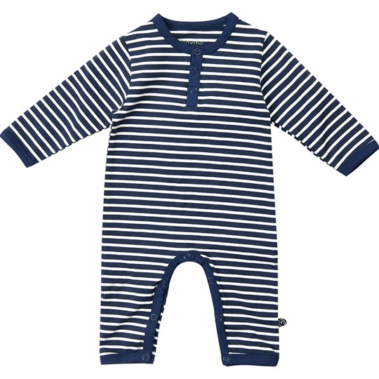 Minymo Grow Suit LS Dark Navy Dark Navy
