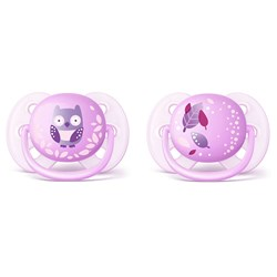 Philips Avent 2-Pack Ultra Soft Pacifier 0-6m Purple
