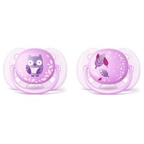 Philips Avent 2-Pack Ultra Soft Pacifier 0-6m Purple Lilla