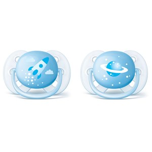 Image of Philips Avent 2-Pack Ultra Soft Pacifier 0-6m Blue (3148274475)