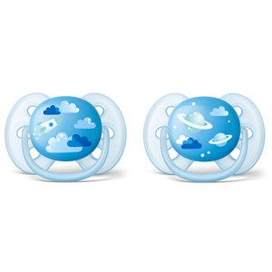 Image of Philips Avent 2-Pack Ultra Soft Pacifier 6-18m Blue (3148274479)