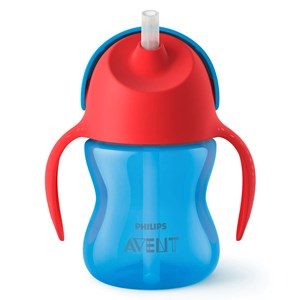 Image of Philips Avent Straw Cup 9m+ 200ml Blue/Red (3150382305)