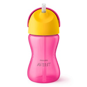 Image of Philips Avent Straw Cup 12m+ 300ml Pink/Yellow (3140443965)