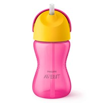 Philips Avent Straw Cup 12m+ 300ml Pink/Yellow Rosa/Gul