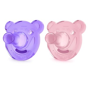 Image of Philips Avent 2-Pack Soothie Shapes Pacifier 3m+ Pink/Purple (3148274021)