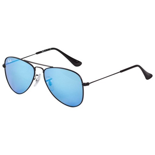 Ray-ban Aviator Junior Sunglasses Black/Blue Mirror 201/55