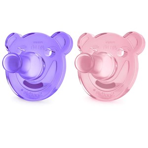 Image of Philips Avent 2-Pack Soothie Shapes Pacifier 0-3m Pink/Purple (2841381959)