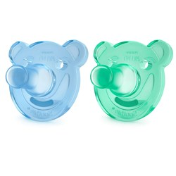 Philips Avent 2-Pack Soothie Shapes Pacifier 0-3m Green/Blue