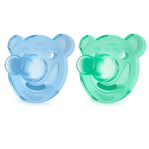 Image of Philips Avent 2-Pack Soothie Shapes Pacifier 0-3m Green/Blue (3148271217)