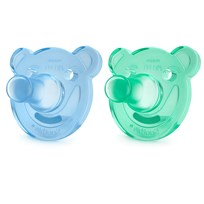 Philips Avent 2-Pack Soothie Shapes Pacifier 0-3m Green/Blue Ass. farger