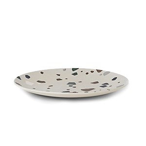 ferm LIVING Bamboo Plate - Terrazzo - Grey
