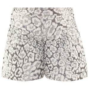 Image of Miss Grant Lurex Leopard Print Shorts Off White/Silver 122-128 (8 Years) 34 (2995682913)