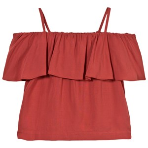 Image of Little Remix Rion Ruffle Top Dusty Red 8 år (2743760505)