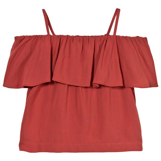 Little Remix Rion Ruffle Top Dusty Red Dusty Red