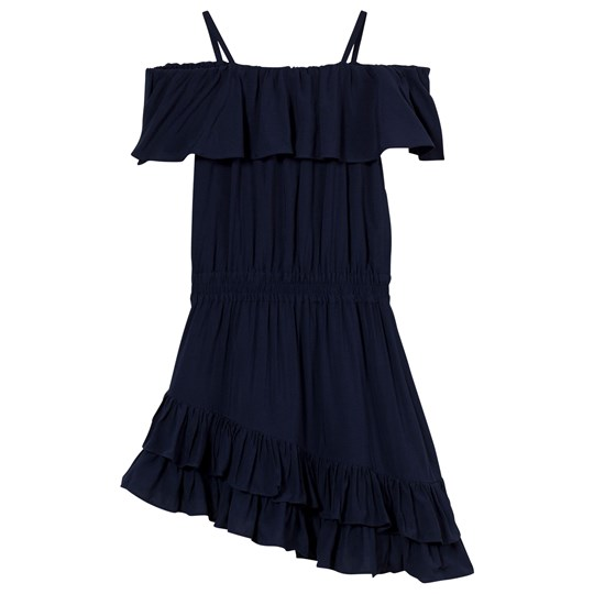 Little Remix Rion Ruffle Dress Navy Navy