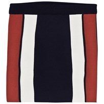 Little Remix Casey Skirt Navy/Dusty Red/White Navy/Dusty Red/White