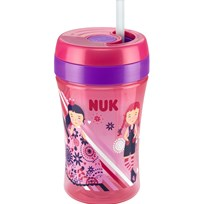 NUK Mugg med sugrör, Easy Learning Cup FUN, 300 ml, Röd Red
