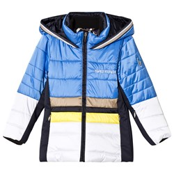 Sportalm Blue and White Color Block Jacket