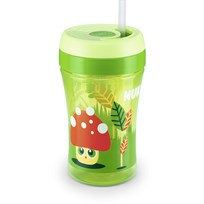 NUK Mugg med sugrör, Easy Learning Cup FUN, 300 ml, Grön Green