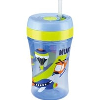NUK Mugg med sugrör, Easy Learning Cup FUN, 300 ml, Blå Blue
