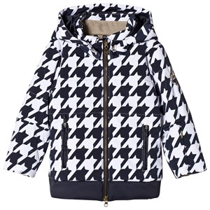 Image of Sportalm Dark Navy and White Faux Fur Hooded Jacket 116 (6 years) (2841380851)