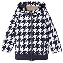Sportalm Dark Navy and White Faux Fur Hooded Jacket 28 Sky Captian