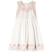 Stella McCartney Kids Cream and Pink Bay Embroidered Shell Dress 9232