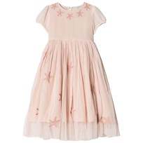 Stella McCartney Kids Pink Tulle Maria Dress with Glitter Stars 5768