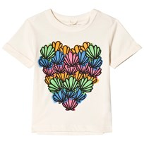 Stella McCartney Kids Lolly Heart Shells Print T-shirt Cream 9232