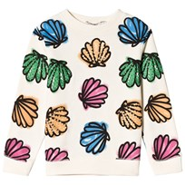 Stella McCartney Kids Cream Betty Shells Print Sweatshirt 9233
