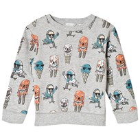 Stella McCartney Kids Grey Biz Ice Cream Print Sweatshirt 1466