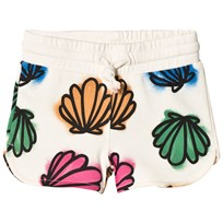 Stella McCartney Kids Cream Beryl Shells Print Jersey Shorts 9233