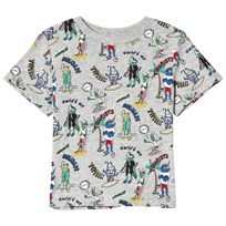 Stella McCartney Kids Grey Arlo Mutant Print Tee 1765