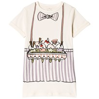 Stella McCartney Kids White and Purple Bongo Ice Cream Dress 9232