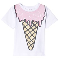 Stella McCartney Kids White Arlow Ice Cream Print Tee 9082