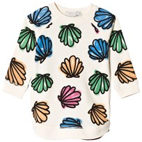 Stella McCartney Kids Sapphire Shell Print Klänning Cream 9232