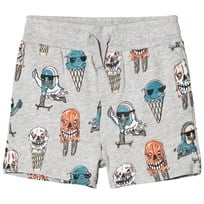 Stella McCartney Kids Grey Josh Ice Cream Print Sweat Shorts 1466