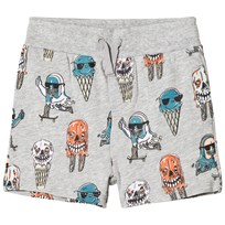 Stella McCartney Kids Josh Ice Cream Print Mjukis Shorts Grå 1466