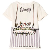Stella McCartney Kids White and Purple Ice Cream Seller Bongo Dress 9232