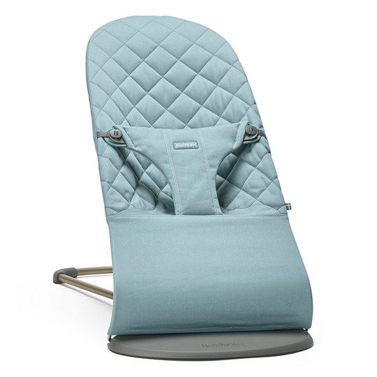 Babybjörn Baby Bouncer Bliss Cotton Vintage Turquoise Blue