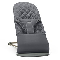 Babybjörn Baby Bouncer Bliss Cotton Pinstripe Grey Musta