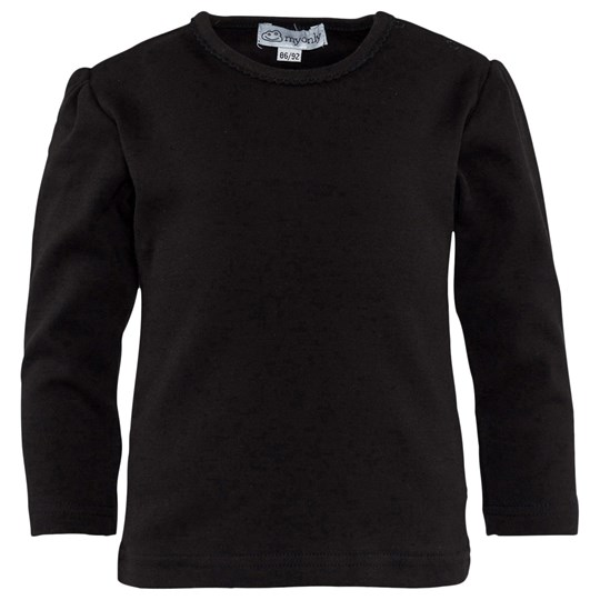 My Only Lace Collar T-Shirt Black Black
