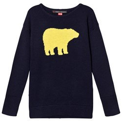 Perfect Moment Navy Bear Crewneck Sweater