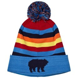 Perfect Moment Blue Rainbow Polar Hat