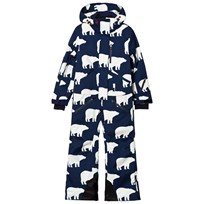Perfect Moment Blue All Over Bear Print Onesie Ski Suit Block Bear